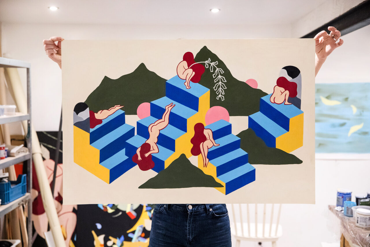 Acrylic on paper, 100 x 65 cm, 2019