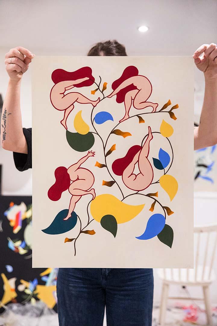 Acrylic on paper by Clara Duflos, 50 x 65 cm, 2019