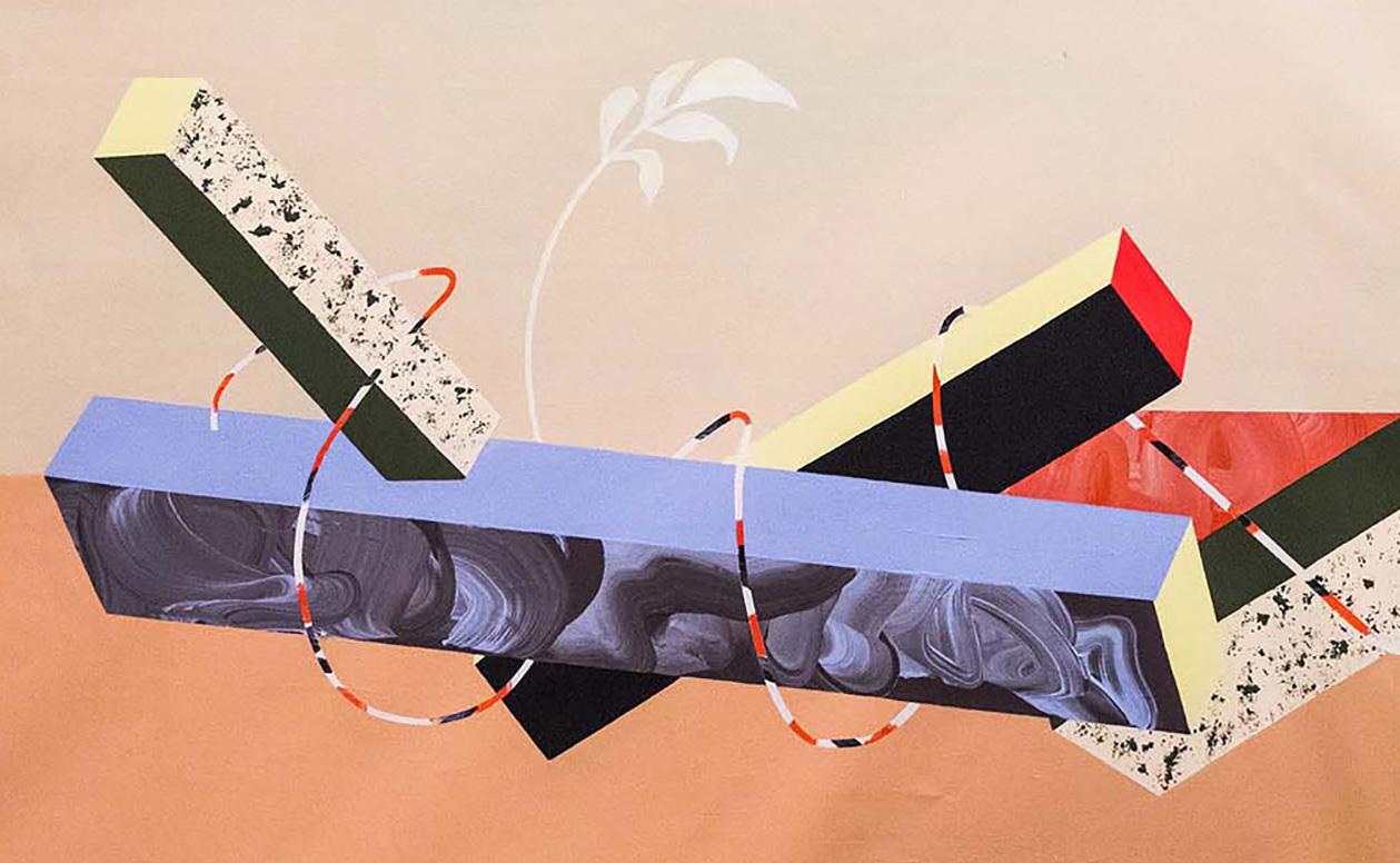 Acrylic on paper, 165 x 64 cm, 2020