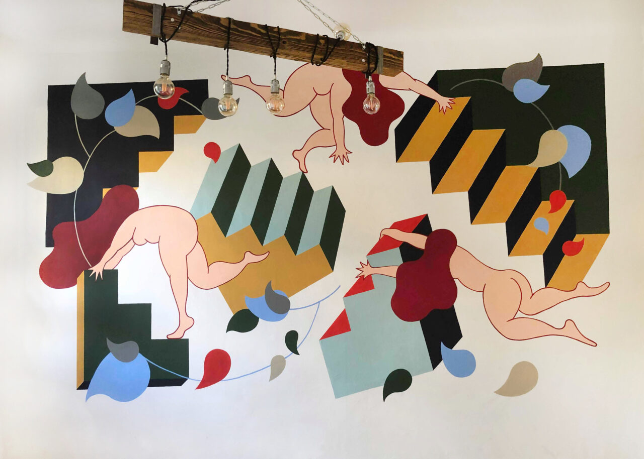 Wall in a private appartment, Berlin, 2019