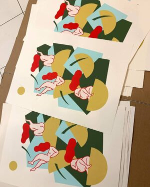 Silkscreen print, 60 x 42 cm, limited edition of 20, signed and numbered