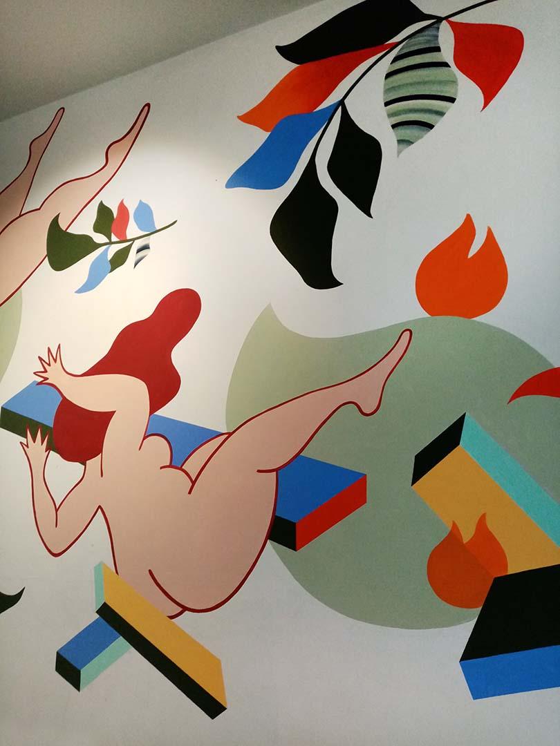 """Wall for """"Les Super Filles du Tram"""", Brussels, 2019"""